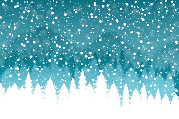 Sfondo realistico nevicata