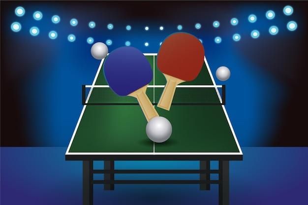 Sfondo realistico ping pong