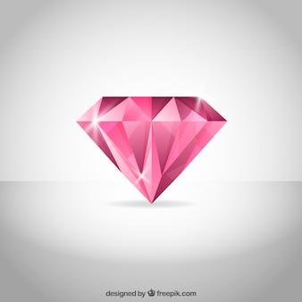 Sfondo rosa con diamanti