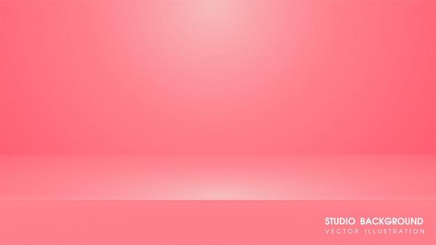 Sfondo rosa con tappeto in studio per fare pubblicità media