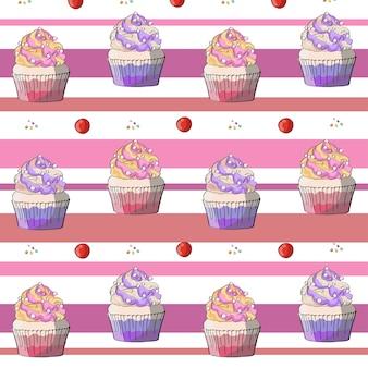 Sfondo rosa cupcake