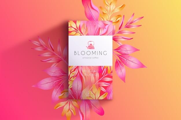 Sfondo rosa fiori ad acquerello