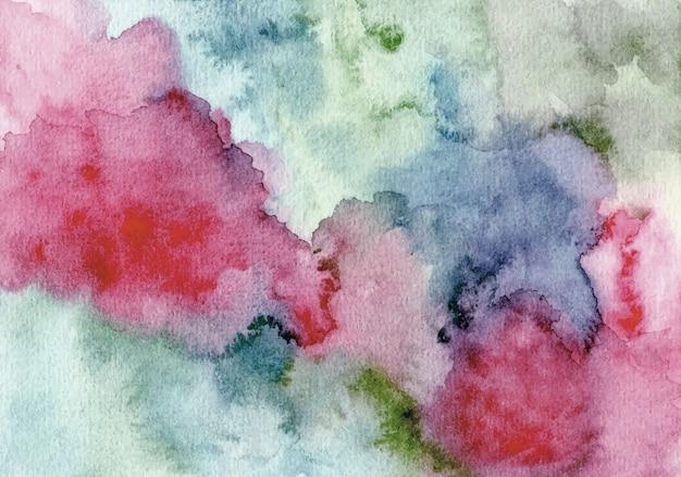 Sfondo rosso blu trama acquerello astratto