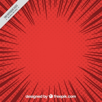 Sfondo rosso comico in stile pop art