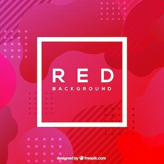 Sfondo rosso con forme diverse