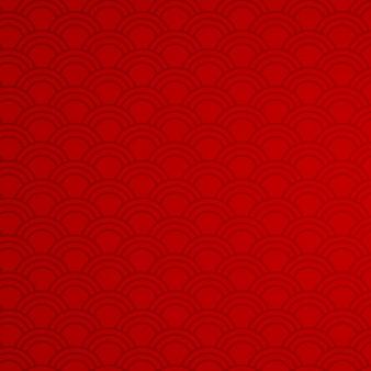 Sfondo rosso con motivi astratti