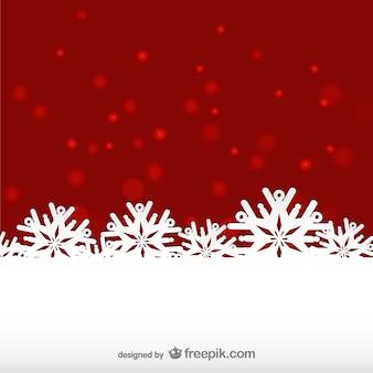 Sfondo rosso e bianco inverno