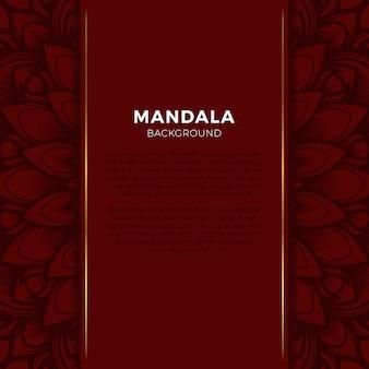 Sfondo rosso mandala di lusso