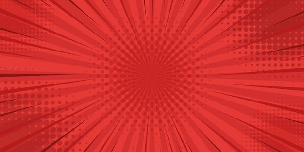 Sfondo rosso stile vintage retrò con raggi di sole