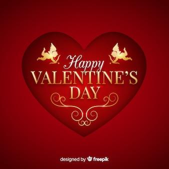 Sfondo san valentino d'oro