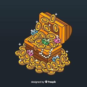 Sfondo scatola del tesoro