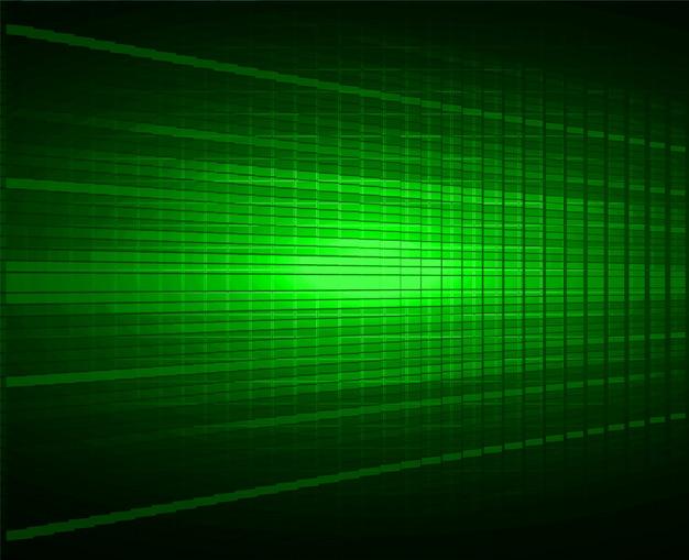 Sfondo schermo cinematografico led verde. tecnologia leggera astratta