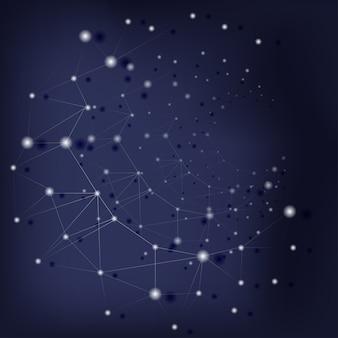 Sfondo scientifico con struttura molecolare astratta