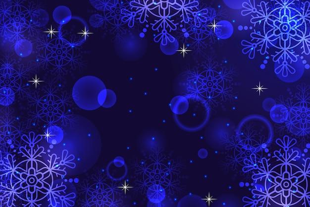 Sfondo scintillante di natale con fiocchi di neve