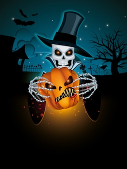 Sfondo scuro di halloween