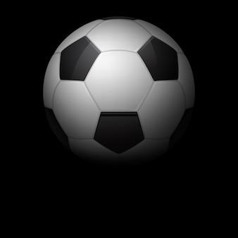 Sfondo scuro di pallone da calcio.