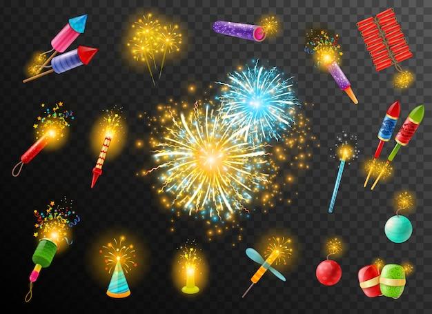 Sfondo scuro pirotecnico poster di cracker di fuochi d'artificio