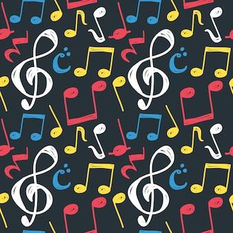 Sfondo senza giunte di nota musicale