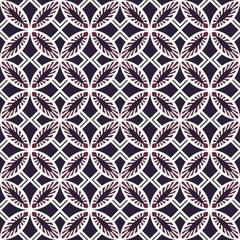 Sfondo senza giunture, vintage viola quadrato rotondo modello di geometria trasversale.