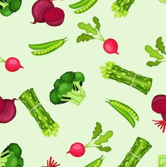 Sfondo senza soluzione di continuità di verdure