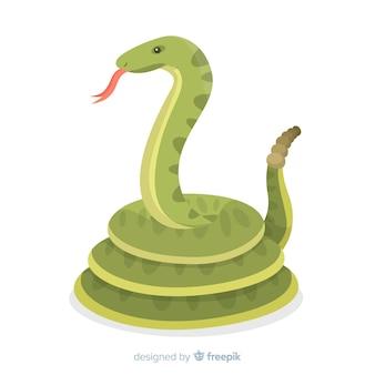 Sfondo serpente piatto
