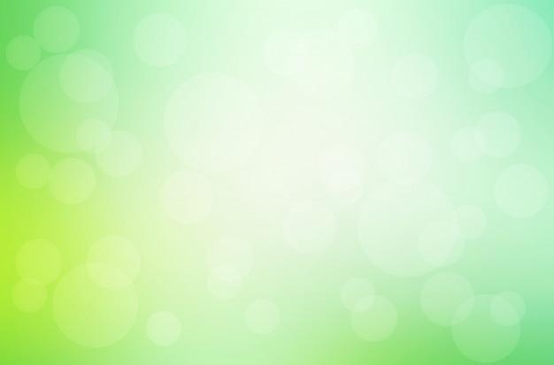 Sfondo sfocato giallo verde con luci bokeh