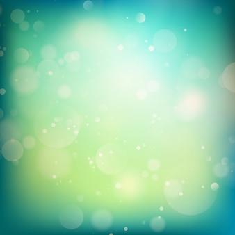 Sfondo sfocato luci blu e verde. eps 10