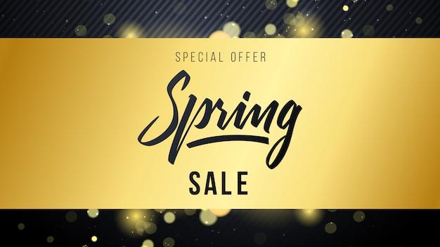 Sfondo sfocato primavera vendita d'oro