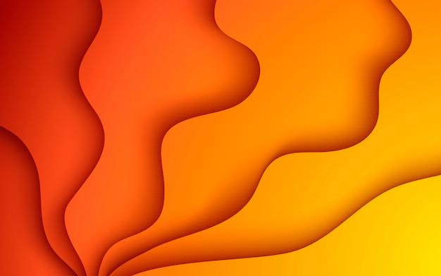 Sfondo sfumato. composizione di colore liscio in papercut astratto cerchio.