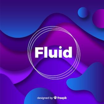 Sfondo sfumato con forme fluide