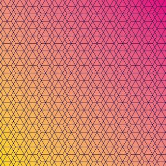 Sfondo sfumato giallo rosa e motivo, copertina.