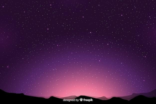 Sfondo sfumato viola notte stellata