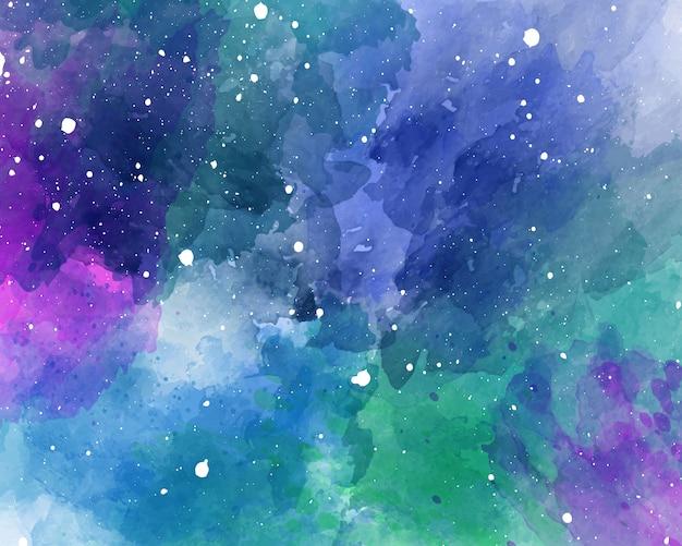 Sfondo spazio acquerello trama acquerello cielo stellato