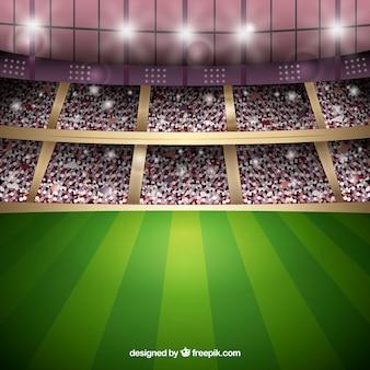 Sfondo stadio di calcio in stile realistico