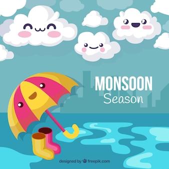 Sfondo stagione dei monsoni