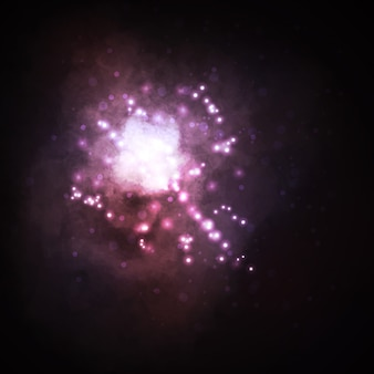 Sfondo stellato, nebulosa a forma di stella ricca