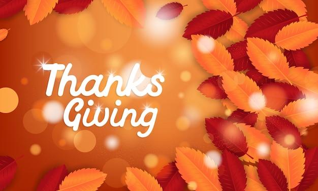Sfondo su un tema di ringraziamento.