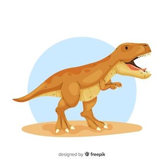 Sfondo t-rex disegnato a mano
