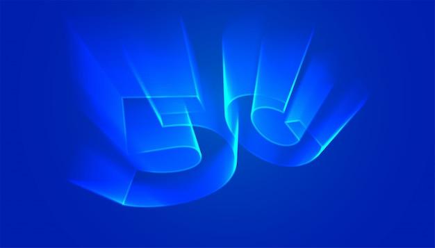 Sfondo tecnologia 5g con stile bagliore di luce olografica
