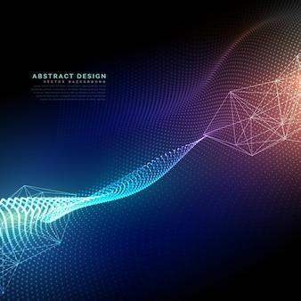 Sfondo tecnologia astratta con effetto luce