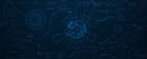Sfondo tecnologia big data. rete di particelle di nebbia sicurezza informatica