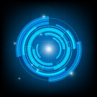 Sfondo tecnologia circle background