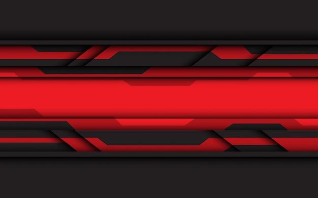 Sfondo tecnologia circuito rosso e grigio.