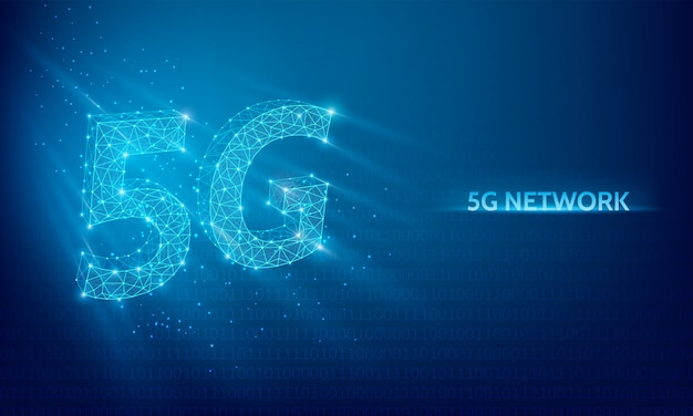 Sfondo tecnologia di rete 5g