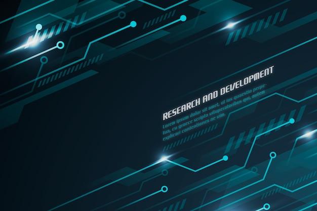 Sfondo tecnologia futuristica con circuiti