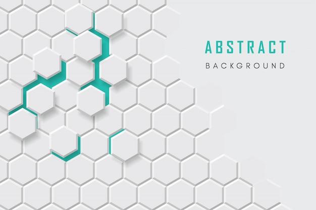 Sfondo tecnologico a nido d'ape, esagono geometrico astratto