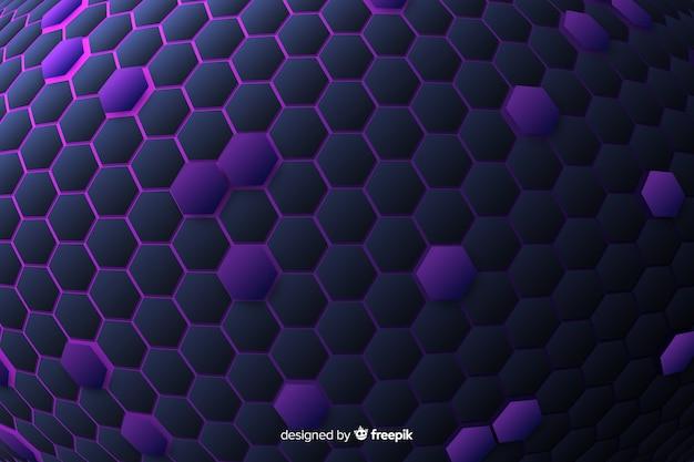 Sfondo tecnologico a nido d'ape in viola