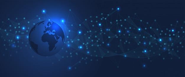 Sfondo tecnologico globale