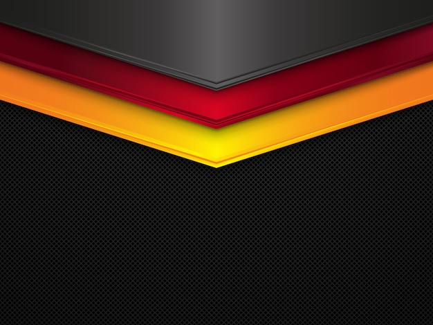 Sfondo texture metallo bandiera germania astratta