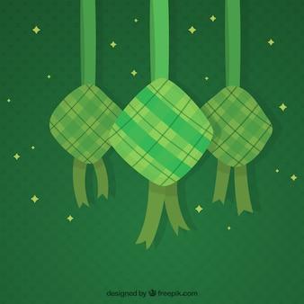 Sfondo tradizionale ketupat